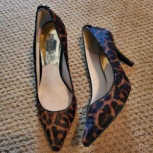 Michael Kors animal print heels